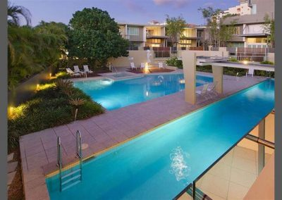Newstead Terraces Night Pool